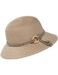Kylin Express femmes Summer et UV pliable chapeau de paille plage soleil Bouchons (Abricot)