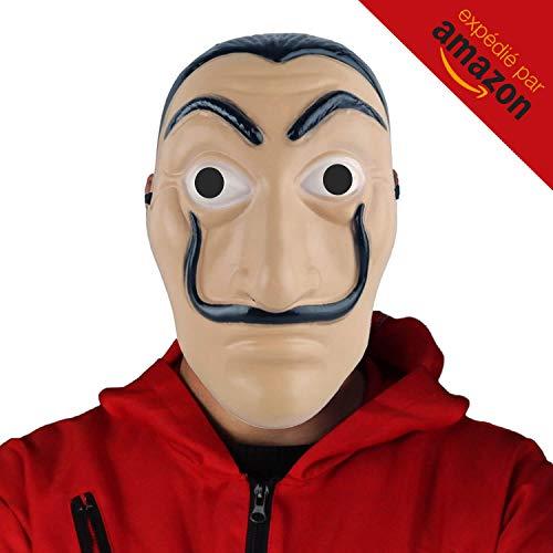WOW Concept - Dali Maske - La CASA De Papel - Premium Qualität Verstärkter Kunststoff - Steif und widerstandsfähig - Salvador Dali - Geeignet für Kinder und Erwachsene (Warcraft-masken World Of)