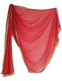 QueenEmara Red Dupatta For Bridal Marriage Dupatta For Bridal