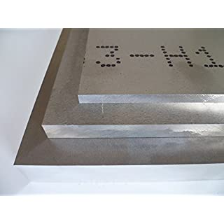 B&T Metall Aluminium Platte blank gewalzt natur | 20,0mm stark | Größe 100 x 200 mm (10 x 20 cm)
