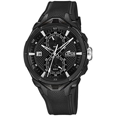 Lotus 18107/4 - Reloj de pulsera hombre, Caucho, color Negro