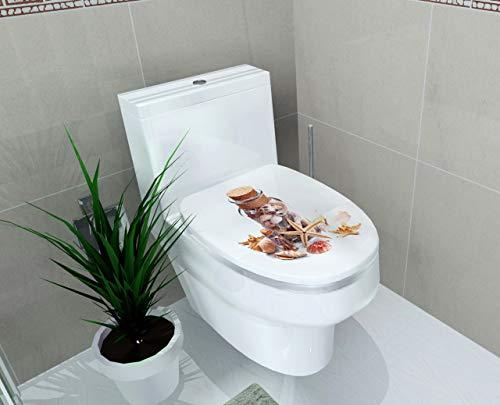 Aufkleber WC Sockel Pfanne Abdeckung Aufkleber Wc Hocker Kommode Aufkleber wohnkultur dekor 3D gedruckt blume view cc3 48x58.5cm -