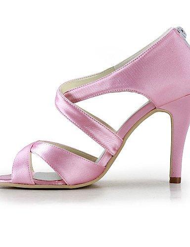 WSS 2016 Chaussures de mariage-Noir / Bleu / Jaune / Rose / Violet / Rouge / Blanc / Argent / Or / Beige / Amande-Mariage / Habillé / Soirée & 3in-3 3/4in-black