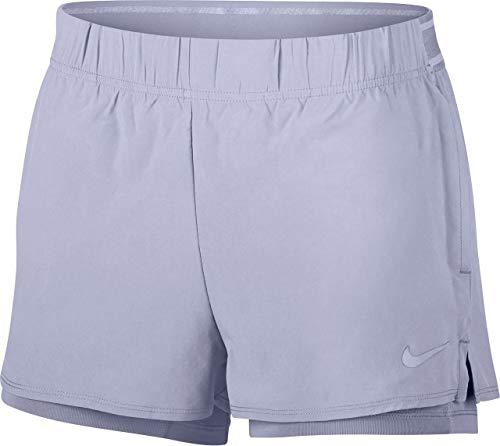 Nike Flex Nkct - Pantaloncini da Donna, Donna, 939312, Oxygen Purple/Oxygen Purple, L