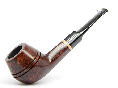 Watson&G.G. - Pipa de tabaco para fumar - BULLDOG - hecho a mano en madera de brezo (bruyere) + Bolsa de Regalo ( marron oscuro )