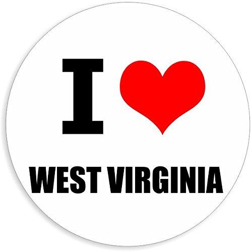 I love West Virginia in 2 Größen erhältlich Aufkleber mehrfarbig Sticker Decal