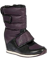 Calvin Klein Jeans VIKY RUB NYLON/LEATHER - Botas De Nieve de material sintético mujer
