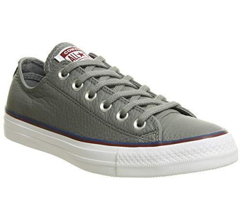 Converse All Star Ox Damen Sneaker Metallic, Weiß - Grau (Mason Court Blue Pomegranate Red Exclusive) - Größe: 5 UK -