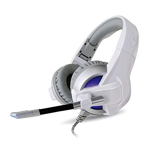 Shuihua-electronic Kopfhörer-Spiel-Kopfhörer-7.1-Kanal-Licht führte das Falten mit Weizen-Computer-elektrischem Kopfhörer (Farbe : Silver3.5)