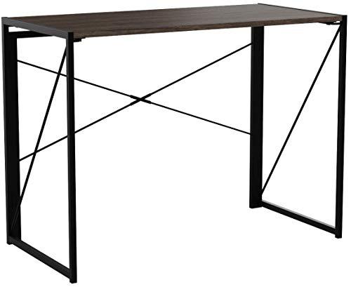 Coavas Klappbar Konferenztisch Schreibtisch Büro Arbeitstisch Schreibtisch Faltbar PC Tisch Industrial Style Klapp Laptop Tisch Computertisch für Home Büro Brown