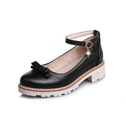 Balamasaapl10219 - Sandales Compensées Pour Femme Noir