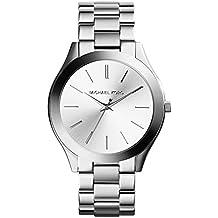 Michael Kors MK3178 - Reloj de cuarzo con correa de acero inoxidable para mujer, color plateado