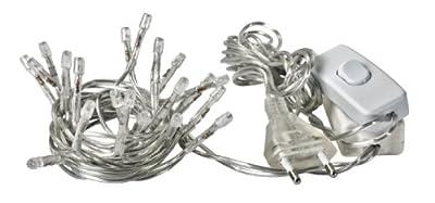 VBS LED-Lichterkette mit Schalter, Kabelrückführung, 20 LEDs transparent von VBS Hobby Service - Lampenhans.de