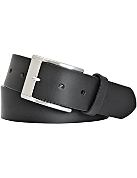 MYTEM-GEAR Herren Leder Gürtel 40mm - Kürzbarer Herrengürtel aus Vollrindleder (schwarz)