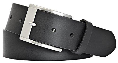 mytem-gear-herren-leder-gurtel-40mm-schwarz-vollrindleder-kurzbar-105-cm