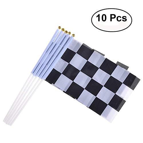 gge Rennflagge Schwarz Weiß Motorradsport Flaggen Formel 1 Racing Banner Racing Thema Party Dekoration ()