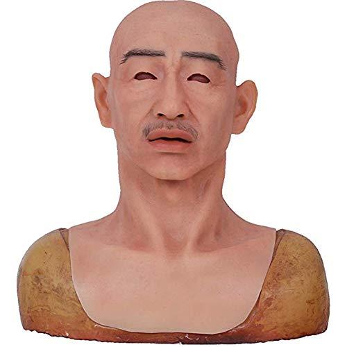 Mann Kostüm Gesicht Ohne - Promi Mann Kopf Maske Cosplay Mann Maske Verkleidung Männliches Kostüm Menschliches Gesicht Maske Erwachsener Mann Mittleren Alters Maske