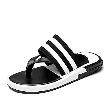 Slippers & amp da uomo;Luce Estate Suole PU Casual Sandali Nero Bianco sandali US9.5 / EU42 / UK8.5 / CN43