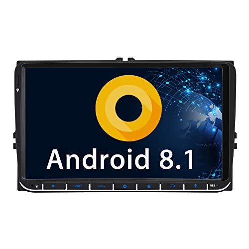 "Pumpkin 9"" Android 8.1 Autoradio GPS para coche, Radio GPS para VW..."