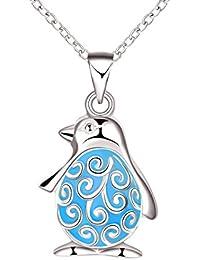 f77e5bf3b5 Yodensity - Catenina con pendente che si illumina al buio, ciondolo a forma  di pinguino