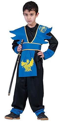 Nerd Clear Ninja Kostüm für Jungen & Mädchen | 3-teilig: Oberteil, Brustteil, Hose | Größe 110, 4-6 Jahre | ideal für Karneval & Fasching