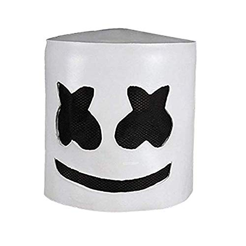 Musikfestival Helme, Neuheit-Kostüm-Party-Maske, Gummi Latex Ultra Cool Vollkopfmaske, Ganz Head Helm Halloween Cosplay Maske Bar Music Props-Weiß ()