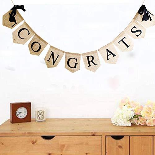(Congrats 2018 Graduate Banner Abschlussfeier Dekorationen Party Supplies Abschluss Banner Party Supplies mit wirbelt Aufkleber)