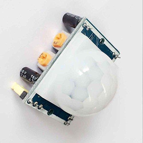 Uzinb Módulo del Sensor HC-SR501 Pequeño PIR de Infrarrojos piroeléctrico Cuerpo de detección de Movimiento