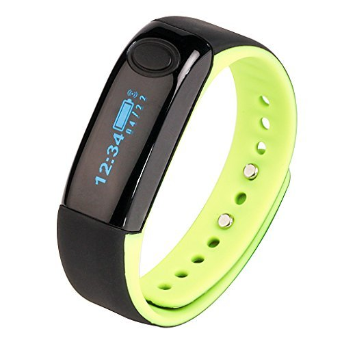 aimox Wireless Aktivitäts-Fitness Tracker-Smart Band Bluetooth Schrittzähler Sport Armband mit Sleep Monitor Kalorien Verbrauch, leuchtend grün