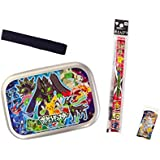 Pokemon Aluminum Lunch Box And 2 Red Pencils And Eraser