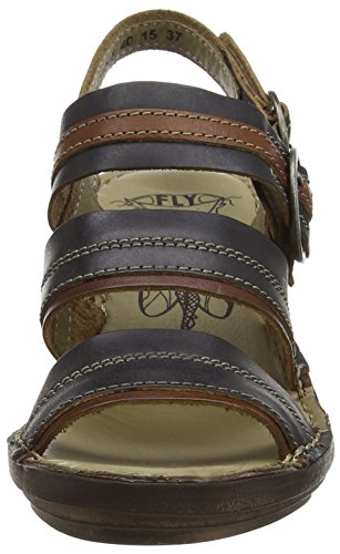 FLY London Salm 631, Sandales Femme Multicolore (Sebta Black/Tan/Black)