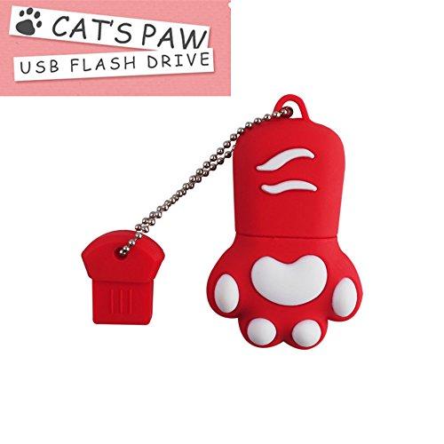 FeliSun USB 3.0 Flash Drive Cartoon Katze Pfote Pen Drive High Speed ??Real Kapazität 16GB Download Speicher USB Stick Pendrive USB Speicherstick