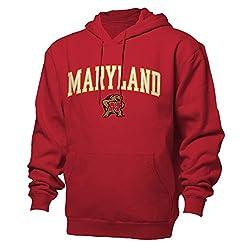 NCAA Maryland Terrapins Benchmark Hood, Red, Large