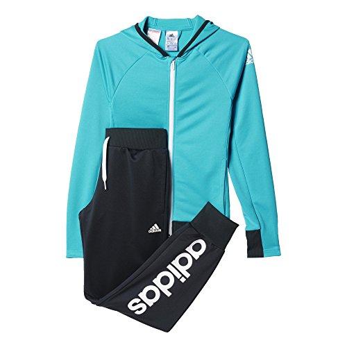 adidas Mädchen Trainingsanzug YG S HD PES TS, Blau/Grau, 116, 4055344527948
