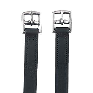 Kerbl 32639 Steigbügelriemen f. Kinder, 130cm, schwarz