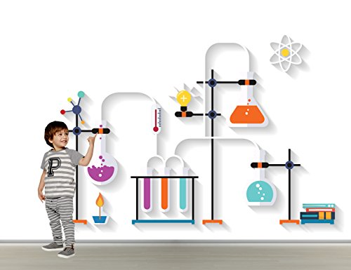 COOL laboratoire Autocollant mural - Enfants - Salle de jeux Sticker mural, Wide 40\