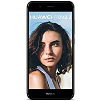 HUAWEI nova 2 Dual-SIM Smartphone (12,7 cm (5 Zoll) Touch-Display, 20 MP FrontKamera, 12 MP + 8 MP Dual-Kamera, 64 GB interner Speicher, Android 7.0) Schwarz