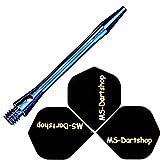 MS Dart-Schäfte Alu Inbetween L3=40mm Blau, 2 Satz = 6 Stück