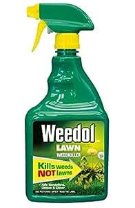 Weedol Lawn Weedkiller, Kills Weeds Not Lawns, 800ml Spray Gun!