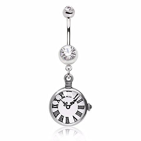 WildKlass Jewelry Women's Ring Pocket Watch Replica Dangle