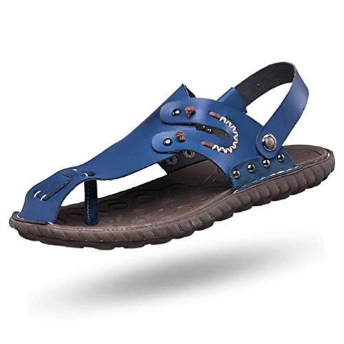 SHANGXIAN Der junge Seemann Komfort Fischer Sandalen Flip-flops(two kinds of tees) Blue