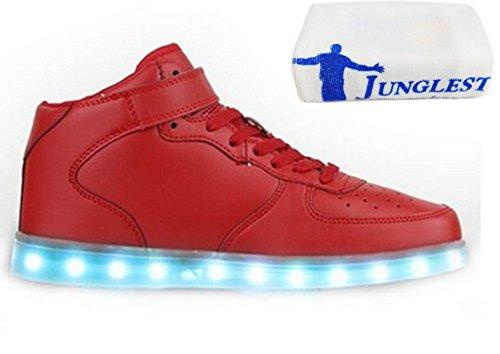 [Present:kleines Handtuch]Rot EU 37, Outdoorschuhe Schuhe Sportschuhe 7 Damen und USB Leuchtend Sneaker Herren Wechseln JUNGLEST® Laufschuhe Freizeitschuhe Kinder Mode auf