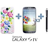 OnlineBestDigital - Carving Pattern Battery Cover / Housse pour Samsung Galaxy S4 IV I9500 / I9505 - Style F avec 3 Film de Protection et Stylet