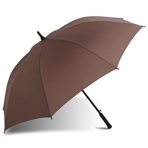 Umbrella Surdimensionné Parapluie Parapluie Puissant Renfort Alimentation en Eau Poignée Droite Parapluie D'affaires de Sunny Men