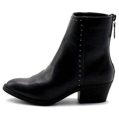 Ollio Womens TWB-01010-2 Ankle Bootie