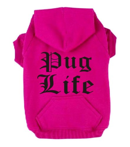 pug-life-medium-neon-heather-pink-dog-zip-up-hoodie-pearlescent-black-print