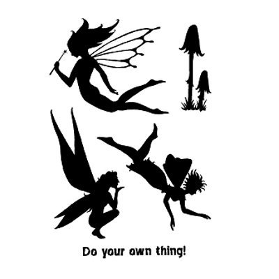 Lindsay Mason Designs A6Fairy Silhouette Clear Stamp, transparent - Arts Crafts Silhouette