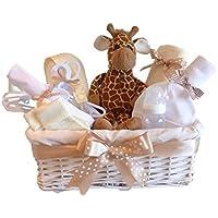 Signor Giraffa–Unisex Baby Hamper/Neutro–regalo/Cesto regalo per bambino/regalo per bambina/bambino doccia regalo/Nuovo arrivo Regalo/Cesto regalo unisex/maternità regalo/spedizione veloce