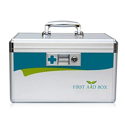 Q store Medicine box Maleta portátil de Aluminio con Varias Capas para el Equipo médico de Emergencia, para el hogar