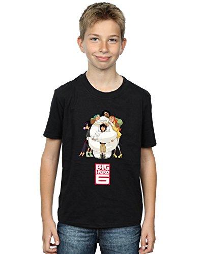 ro 6 Baymax Hug T-Shirt Schwarz 9-11 Years ()